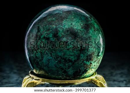 green chrysocolla ball - stock photo