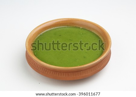 green chutney - stock photo