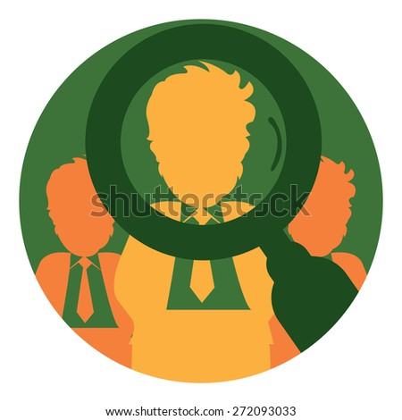 Green Circle Job Openings Label, Sign or Icon Isolated on White Background - stock photo