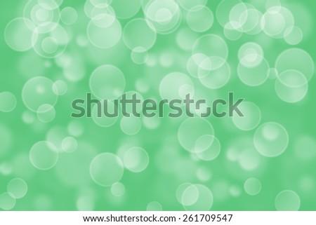 green circle shape boke background - stock photo