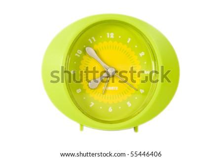 Green Clock - stock photo