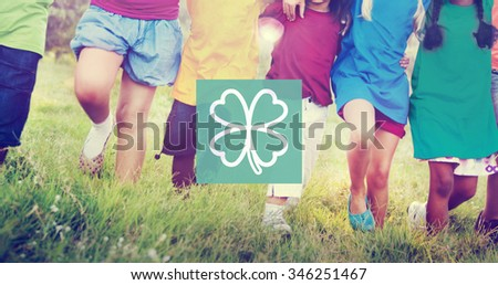 Green Clover Leaf Environmental Inspiration Concept - stock photo