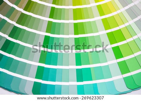 Green Color guide for selection isolated on white background - stock photo