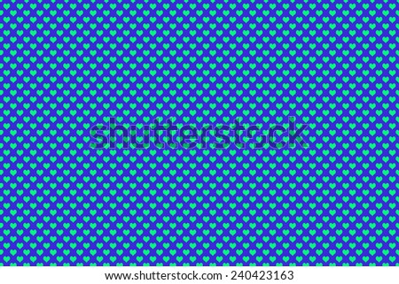 Green Colored Heart Shape with blue background - stock photo