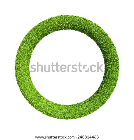Green concept, Clipping path included. - stock photo