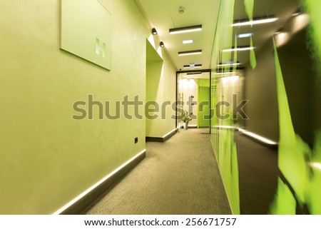 Green corridor - stock photo