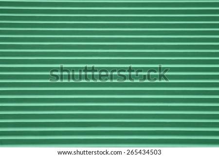Green corrugated background - stock photo