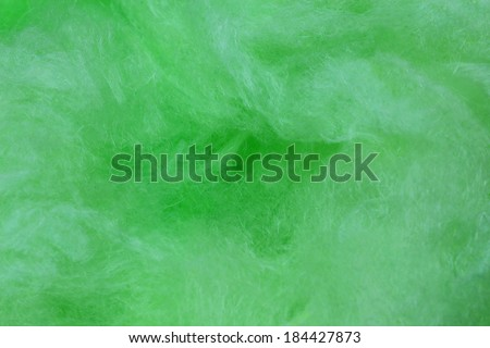 Green cotton candy background - stock photo