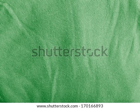 green creased textile background - stock photo
