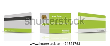 Green Credit Cards Templates - stock photo