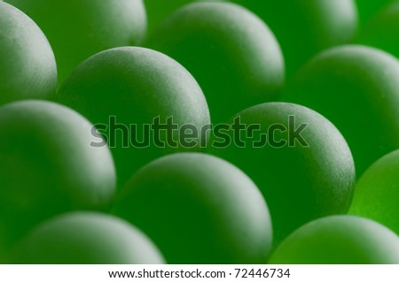 green crystal spheres - stock photo