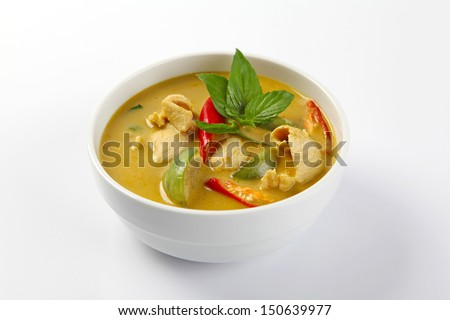 green curry, thai cuisine - stock photo