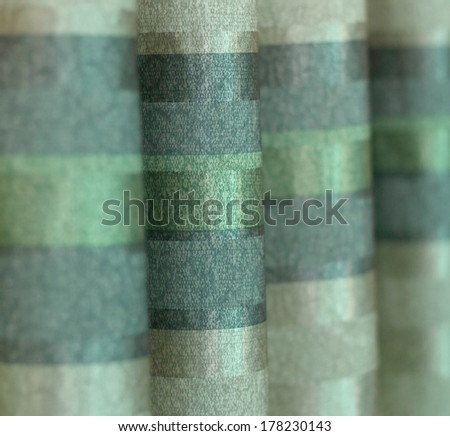 Green curtains - stock photo