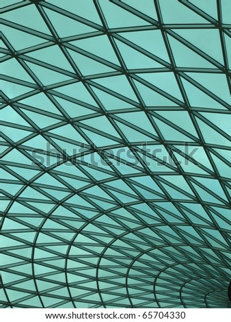 Green Curve Background - stock photo