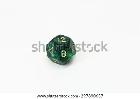 green d12 - stock photo