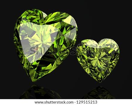 green diamond (high resolution 3D image) - stock photo