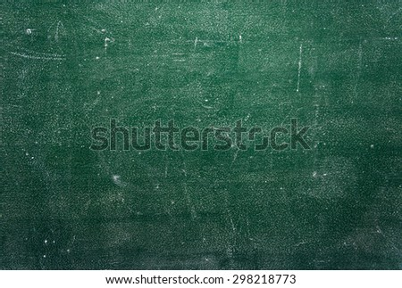 Green dirty chalkboard background - stock photo