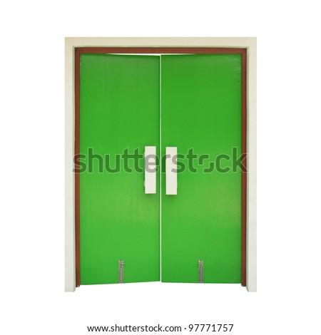 green door - stock photo