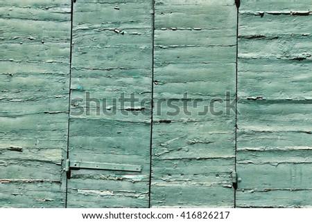 Green doors - stock photo