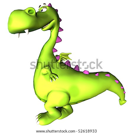 green dragon standing up - stock photo