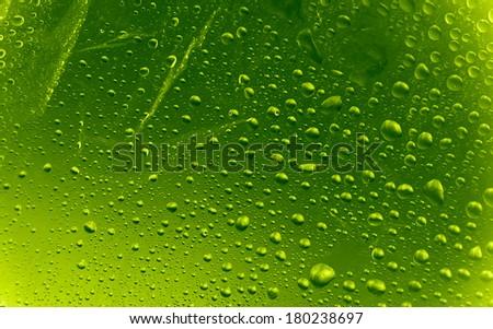 Green drops texture  - stock photo