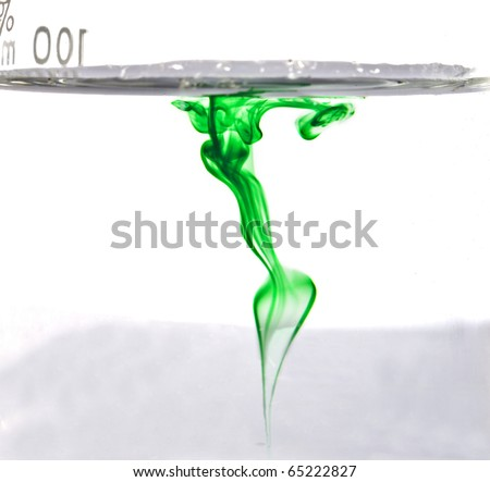 Green dry in water forming abstract background - stock photo