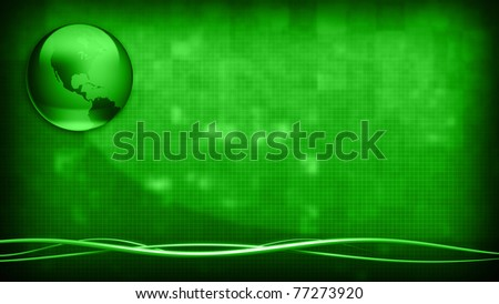 Green Earth Background - stock photo