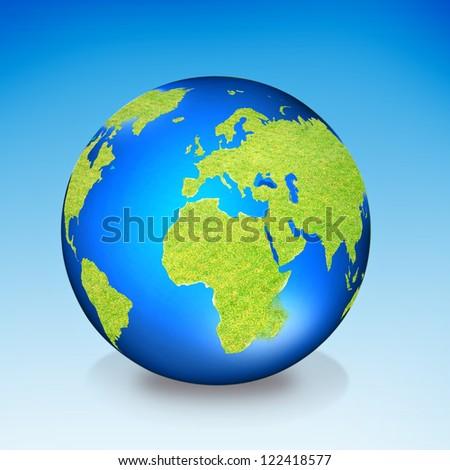 Green Earth Globe - stock photo
