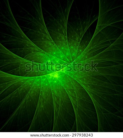 Green Ecology abstract illustration - stock photo