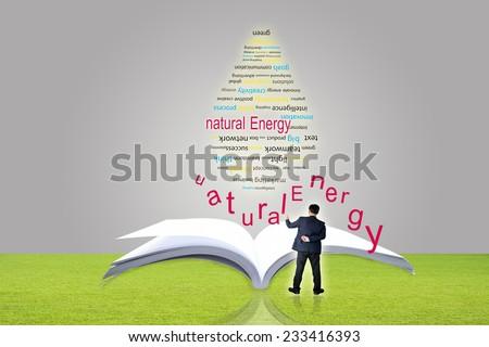 Green energy bulbs - stock photo