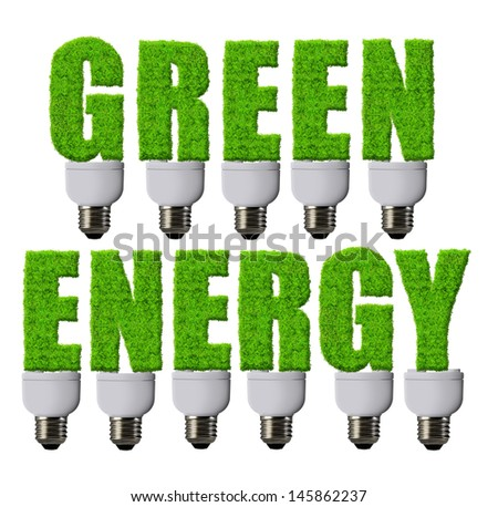 Green energy concepts - stock photo