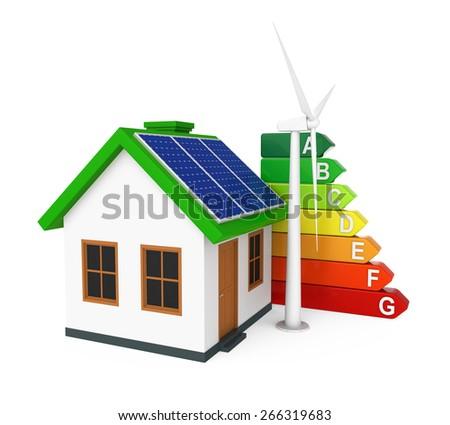 Green Energy House - stock photo