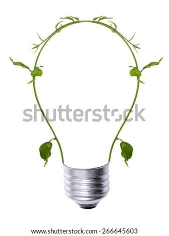 green energy light bulb - stock photo