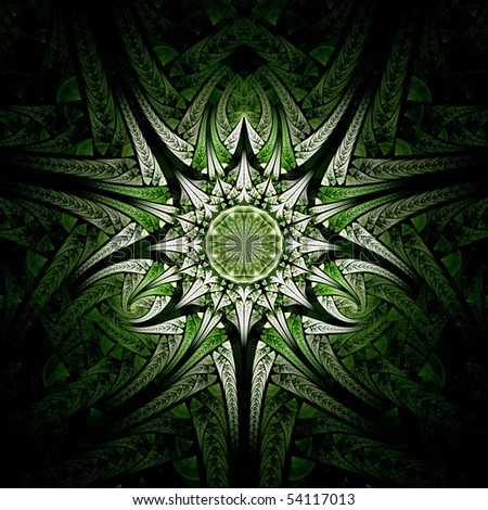 Green environmental tiled abstract background image - stock photo