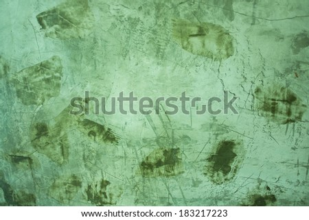 Green exposed grungy concrete wall. - stock photo