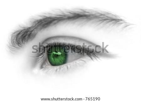 Green eyes - stock photo