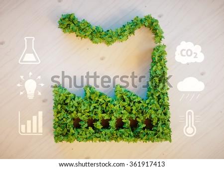 Green factory concept - stock photo