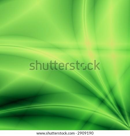 Green fantasy background (rays) - stock photo
