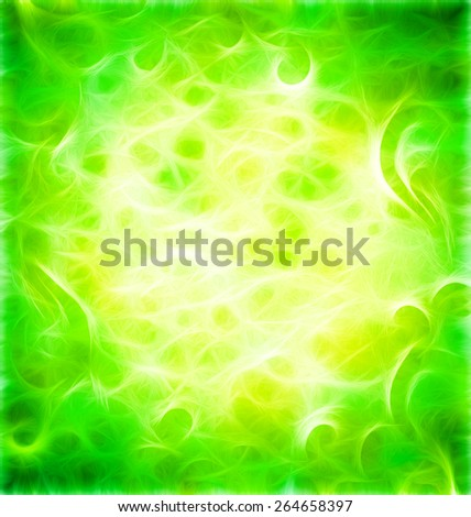 green flourishes grunge background pattern - stock photo