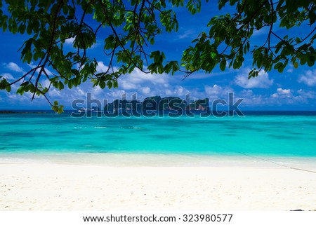 Green Getaway Exotic Paradise  - stock photo