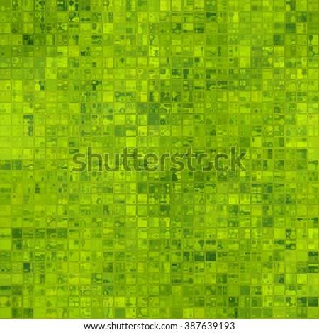 Green glass tiles, seamless background - stock photo