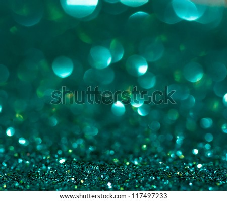 Green glitter background - stock photo