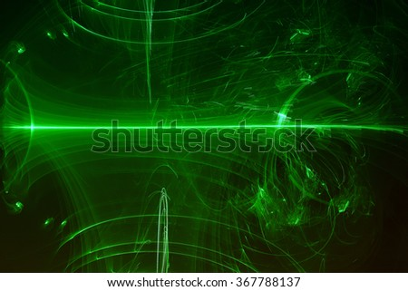 green glow energy wave. lighting effect abstract background. This image is suitable for any purpose, such as science, fantastic, sci-fi, horror, supernatural and etc. - stock photo