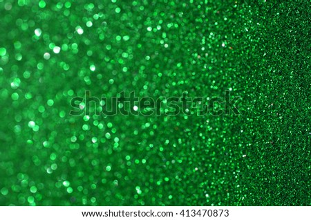 green Glow glitter background. Elegant abstract background with bokeh effect - stock photo