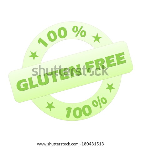 Green gluten free stamp isolated in white background - stock photo