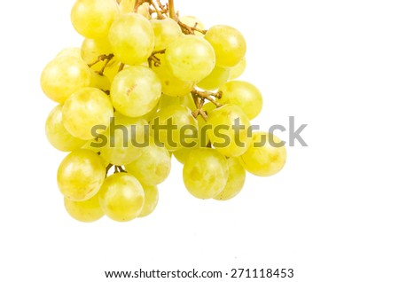 green grape isolated at white background  - stock photo