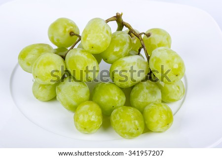 green grape on isolated background - stock photo