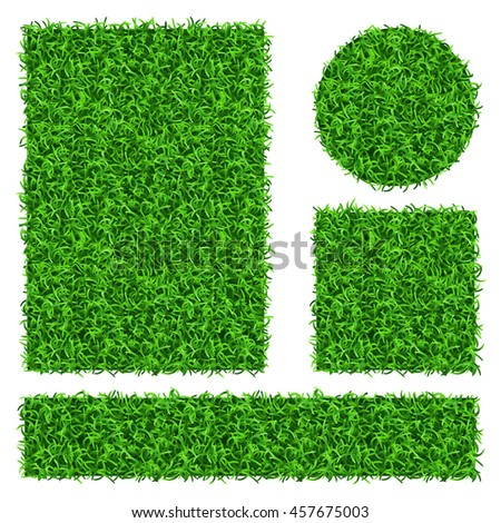 Green grass banners - stock photo
