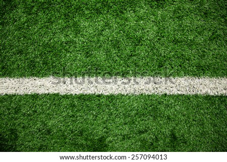 Green grass field, soccer field - stock photo