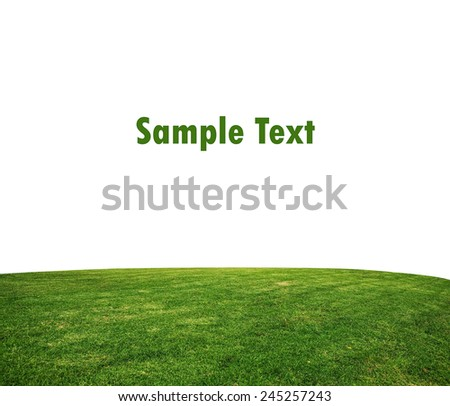 green grass lawn isolated on white - stock photo